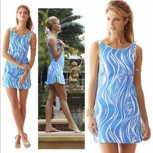 Lily Pulitzer Delia Shift Joe Fish Print Dress 12
